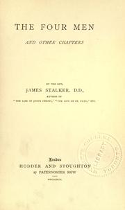 Cover of: The four men and other chapters
