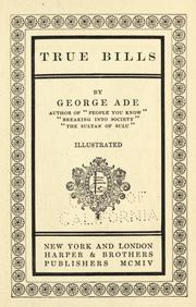 Cover of: True bills