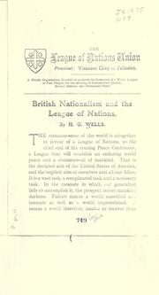 Cover of: British nationalism and the League of Nations