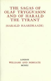 Cover of: The Sagas of Olaf Tryggvason and of Harald The Tyrant (Harald Haardraade)