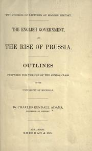 Cover of: The English government