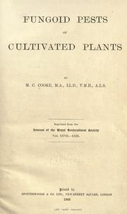 Cover of: Fungoid pests of cultivated plants