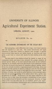 Cover of: The economic entomology of the sugar beet