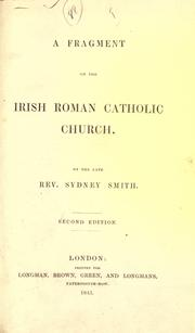 Cover of: A fragment on the Irish Roman Catholic church
