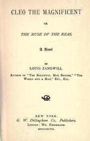 Cover of: Cleo the magnificent | Zangwill, Louis