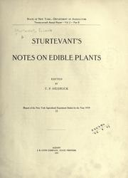 Cover of: Sturtevant's notes on edible plants