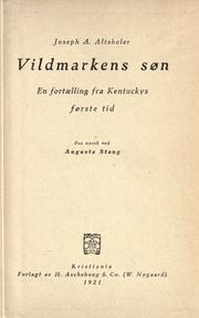 Cover of: Vildmarkens s℗øn