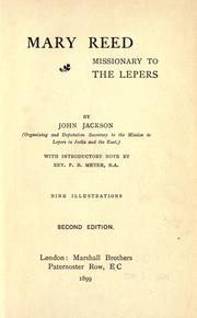 Mary Reed, missionary to the lepers by Jackson, John
