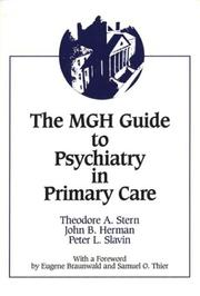 Cover of: MGH guide to psychiatry in primary care |