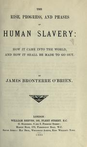 Cover of: The rise, progress, and phases of human slavery | James Bronterre O'Brien