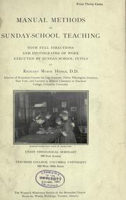 Cover of: Manual methods of Sunday-school teaching
