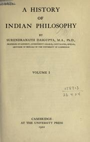 A history of Indian philosophy by Dasgupta, Surendranath