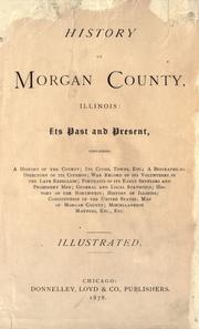 Cover of: History of Morgan county, Illinois by