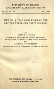 Cover of: Tests of a flat slab floor of the Western newspaper union building