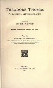 Cover of: Theodore Thomas