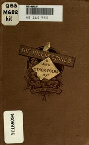 Cover of: The Hill Of Stones, And Other Poems