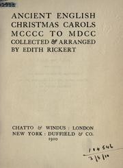 Cover of: Ancient English Christmas carols 1400 to 1700
