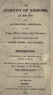 Cover of: Comedy of errors