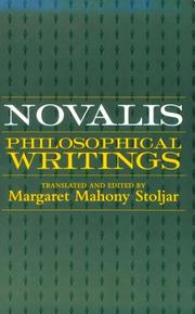 Cover of: Philosophical writings