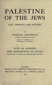 Cover of: Palestine of the Jews | Bentwich, Norman De Mattos