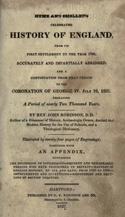 Cover of: Hume and Smollett's celebrated history of England, from its first settlement to the year 1760
