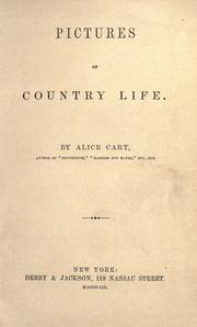 Cover of: Pictures of country life