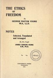 Cover of: The ethics of freedom