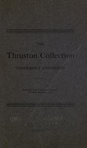 Cover of: The Thruston collection