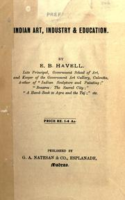 Cover of: Essays on Indian art, industry & education. by E. B. Havell