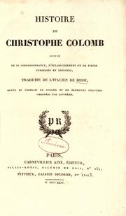Cover of: Histoire de Christophe Colombszhaf,szjsaĥgcxhdcc