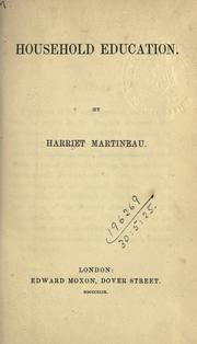Household education by Martineau, Harriet