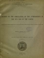 Cover of: Studies on the circulation of the atmospheres of the sun and of the earth ..