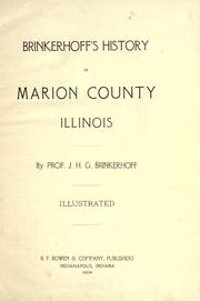 Cover of: Brinkerhoff's history of Marion County, Illinois by J. H. G. Brinkerhoff
