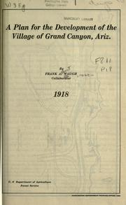 Cover of: A plan for the development of the village of Grand Canyon, Ariz