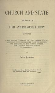 Cover of: Church and state