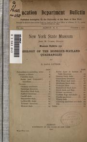 Cover of: Geology of the Honeoye-Wayland quadrangles