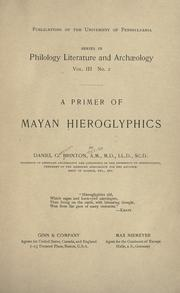 Cover of: A primer of Mayan hieroglyphics
