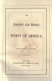 Cover of: The eminent and heroic women of America