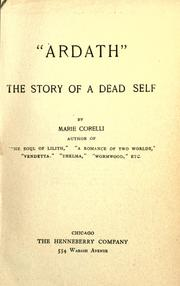 Cover of: Ardath: the story of a dead self