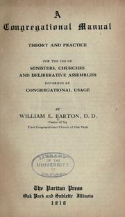 Cover of: A Congregational manual