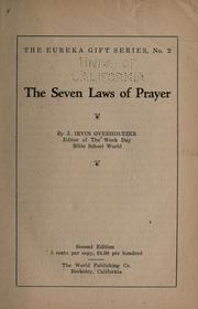 Cover of: The seven laws of prayer