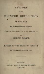 Cover of: History of the counter-revolution in England