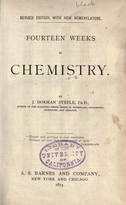 Cover of: Fourteen weeks in chemistry
