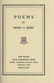 Cover of: Poems | Henry Augustin Beers