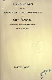 Proceedings of the ... National Conference on City Planning by National Conference on City Planning.