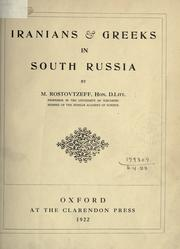 Cover of: Iranians & Greeks in South Russia