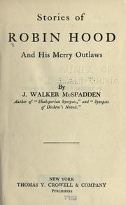 Cover of: Stories of Robin Hood & his merry outlaws