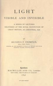 Cover of: Light visible and invisible