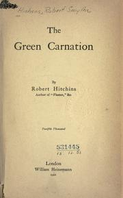 Cover of: The Green Carnation