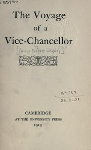 Cover of: The voyage of a vice-chancellor